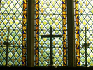 [Stained glass window in St Botolph's, Iken]