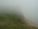 [East Cliff, shrouded in mist]