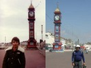 [Weymouth clock tower in 1983 and 2005]